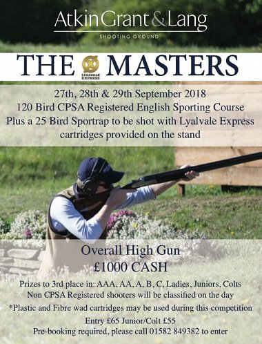 Lyalvale Express Masters 2018