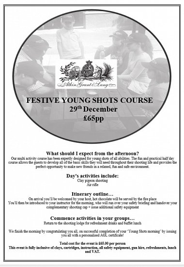 Festive 'Young Shot's' Course