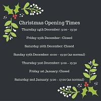 Christmas Opening Times 2015